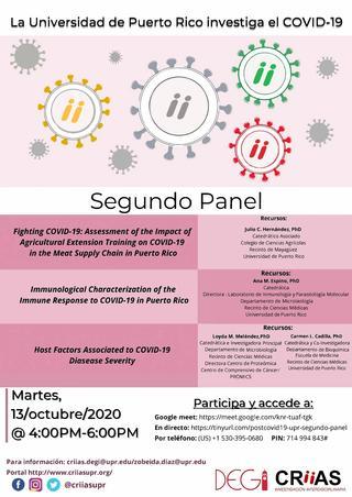 2no Panel La UPR investiga sobre COVID-19